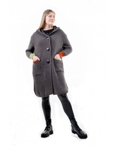 Ilgas megztinis-kardiganas