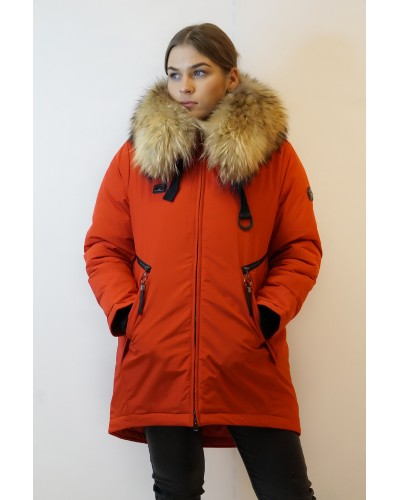 Jacket with natural fur