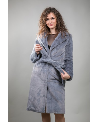 "Gray fur coat ""TEDDY"""