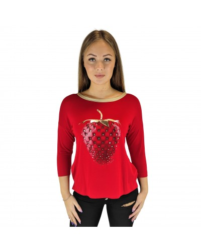 Knitted blouse Nola strawberry