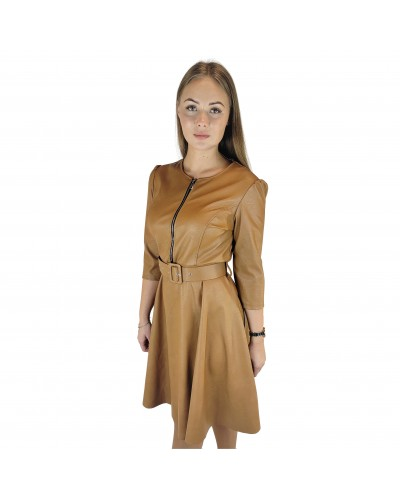Eco leather dress