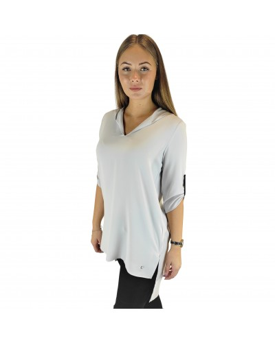 Blouse - Tunic with hood