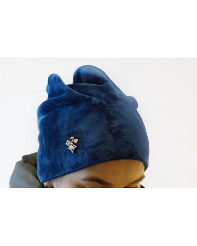 Hat in blue color