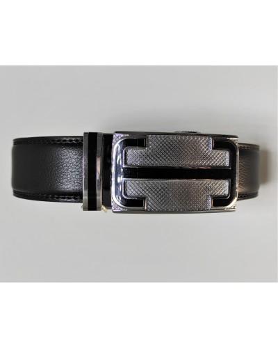 Men's black leather belt...