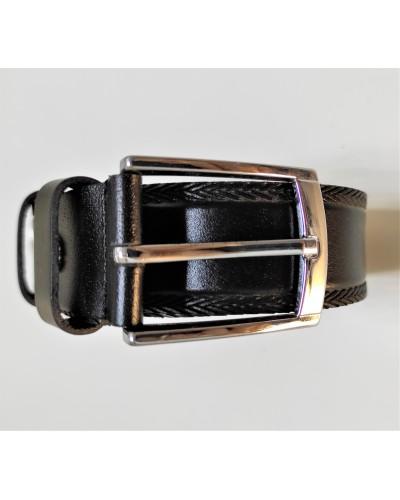 Vyriškas juodas odinis diržas