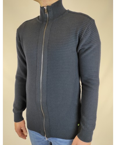 Dark blue sweater with zipper