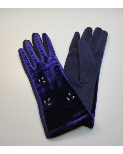 Women's velor gloves